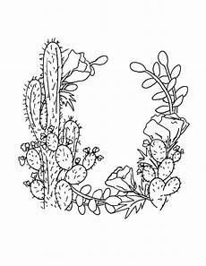 Cactus Plant Coloring Pages Cactus Coloring Page At Getdrawings Free