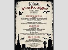 Bo beau Halloween Dinner Ocean Beach Cohn Restaurant Group
