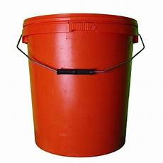 20 liter eimer 20l orange plastic buckets with lid h o plastics