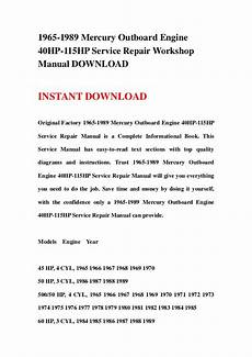 free online car repair manuals download 1985 mercury lynx seat position control 1965 1989 mercury outboard engine 40hp 115hp service repair workshop