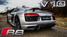 audi r8 v10 plus loud exhaust sound startup revs
