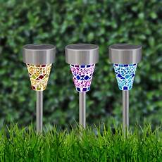 buy gardenkraft solar mosaic lights of 3 at argos co uk your online shop for solar