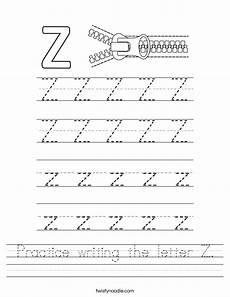 letter z printable worksheets 24267 practice writing the letter z worksheet twisty noodle