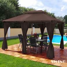 Pavillon Alu 3x4 - led pavillon 3x4m garten pavilon designer pavillion