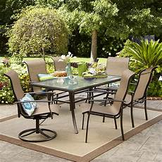 outdoor dining furniture garden oasis harrison 7 dining set