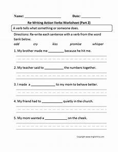 re writing action verbs worksheet part 2 haaaaaaaiiii verb worksheets action verbs y worksheets