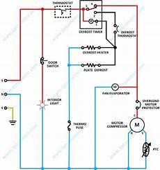 wiring diagram refrigerator kelistrikan kulkas dua pintu tptumetro
