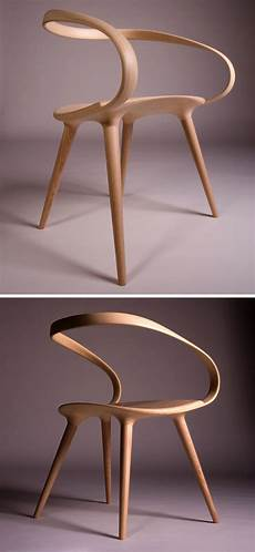 chaise design the velo chair uses a single of bent wood as the