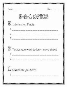 3 2 1 notes template by to boston teacher tpt