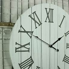 large wooden white wall clock windsor browne