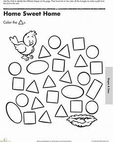 shape maze worksheet 1194 a maze ing shapes follow the triangles triangle worksheet preschool journals geometry