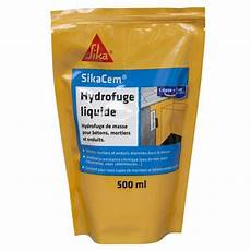 Hydrofuge Liquide Pour B 233 Tons Mortiers Et Enduits Sikacem