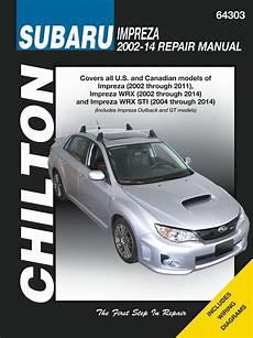 service repair manual free download 2003 subaru impreza parking system subaru impreza wrx sti service manual 2002 2014 chilton 64303