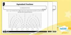 fraction worksheets y3 4177 planit maths y3 fractions equivalent fractions home learning