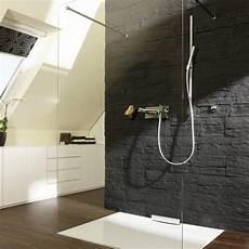 dusche in schräge gemauerte dusche mit glas