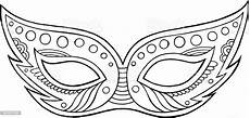 mardi gras mask outline isolated element coloring page for