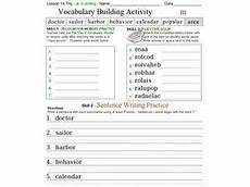 vocabulary building activity worksheet for 3rd 5th grade lesson planet