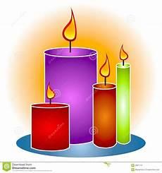 tipi di candele candele decorative clipart di lit illustrazione di stock