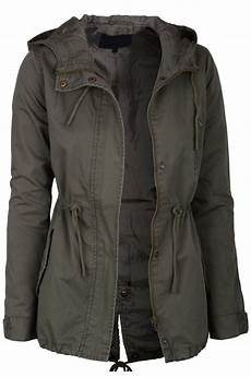 womens olive green lightweight lined zip up fashion safari