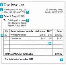 tax invoice receipt template australia tax invoices australian taxation office
