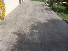 terrasse beton effet bois