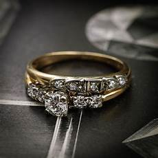 vintage diamond engagement ring fetheray