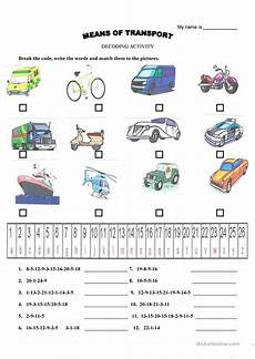 means of transport science worksheets and vocabulary means of transport vocabulary worksheet free esl printable worksheets made by teachers