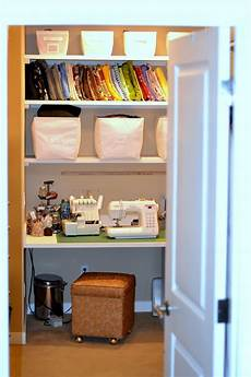 craft room in my closet home tour