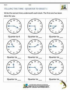 telling time free worksheets for grade 1 3566 clock worksheet quarter past and quarter to