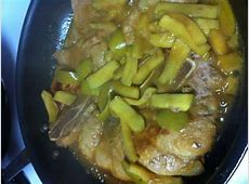 country ham steak with glazed apples_image
