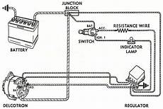basic 3 wire alternator wiring question rod hotrodders bulletin board
