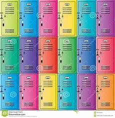 armadietti scuola vector colorful metal school lockers stock vector