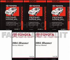 car repair manuals online pdf 2000 toyota 4runner seat position control new 2004 toyota 4runner repair manual set shop service books 4 runner oem sr5 ebay