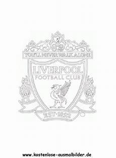 Ausmalbilder Fussball Wappen Kostenlos Fc Liverpool Vereinswappen Fussball Ausmalen