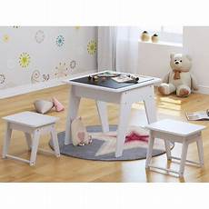 utex 3pcs wooden table and 2 stools chairs set