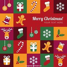 colorful merry christmas template free vector