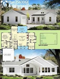one story farmhouse house plans plan 25630ge one story farmhouse plan new american home