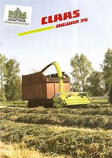 claas jaguar 75 farm equipment brochure claas jaguar 75 chop forage