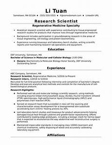 entry level research scientist resume sle monster com