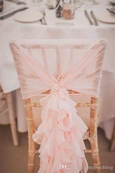 2019 custom made 2017 blush pink ruffles chair covers