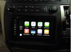 nissan elgrand apple carplay pioneer radio with rear
