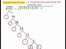 simplest radical form youtube