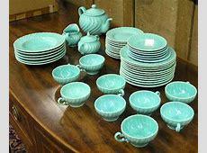 6191: Franciscan Coronado Aqua dinnerware : Lot 6191   In