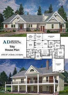4 bedroom ranch house plans with walkout basement the tilly house plan with its craftsman style and cottage