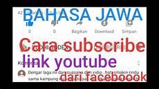 Tutorial Dengan Bahasa Jawa Cara Mesubscribe Dari
