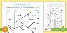 color by 2s multiplication worksheet worksheet english ingl 233 s