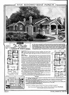sears craftsman house plans the clyde with columns all the way down and a bump out