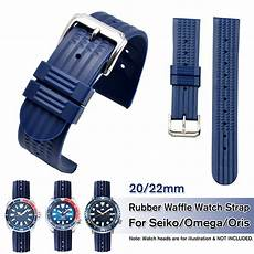 Bakeey 22mm Universal Band Silicone by Bakeey 20mm 22mm Blue Silicone Band For Seiko Omega