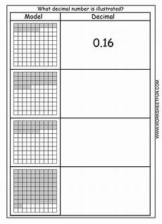 decimal model hundredths 4 worksheets free printable worksheets worksheetfun