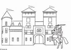 coloring page and castle free printable coloring